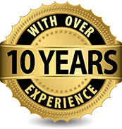 Over 10 Years of Service