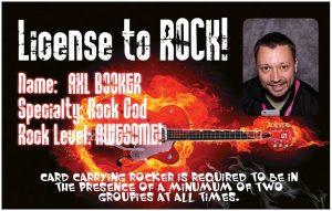 License to Rock - Custom ID Card printer booth