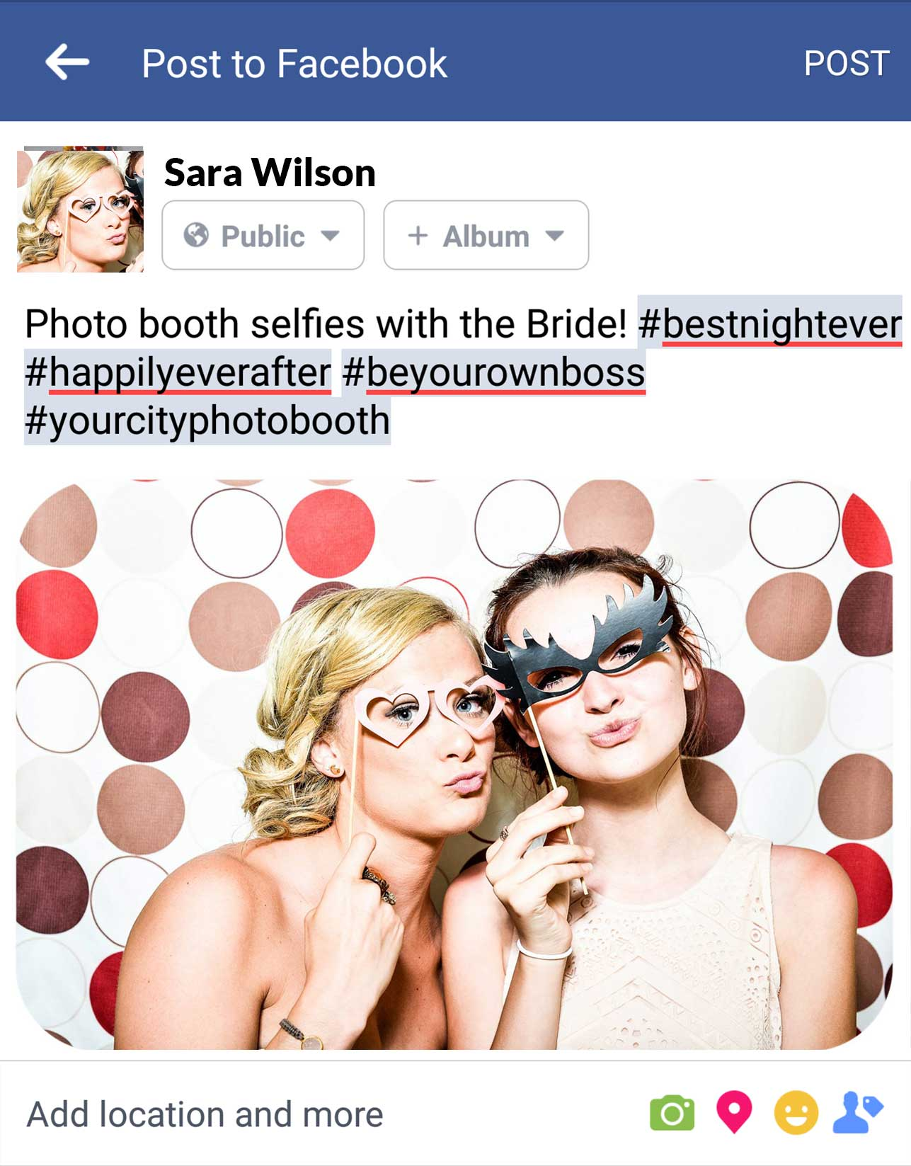 Selfies with the Bride - GIF Photo Booth for sale from Your City Photo Booth