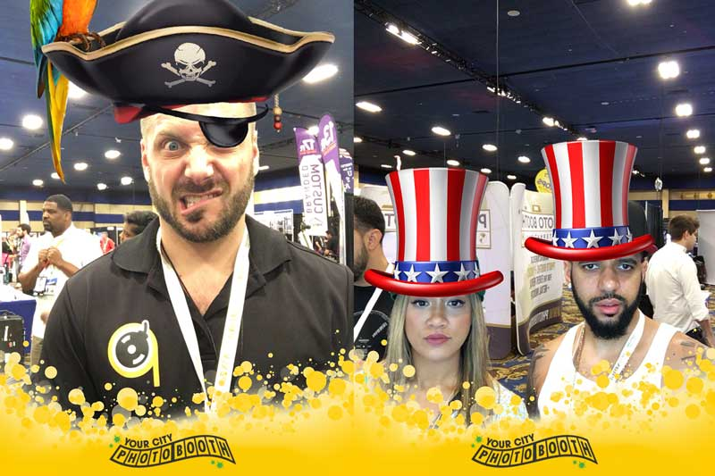 Expression Booth - Digital Props with Custom Layout by Your City Photo Booth
